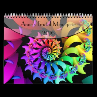 Anne's Fractal Menagerie 2016 Calendar