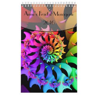 Anne's Fractal Menagerie 2016 Small Single Page Calendar