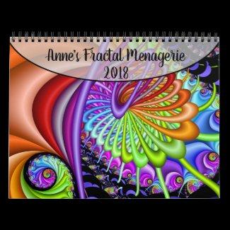 Anne's Fractal Menagerie 2018 Calendar