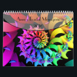 "Anne&#39;s Fractal Menagerie Calendar<br><div class=""desc"">Twelve colorful fractal art images originally created for 2016 are featured on this calendar.  A single page version of this calendar,  is also available in my store.</div>"