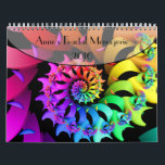 """Anne&#39;s Fractal Menagerie Calendar<br><div class=""""desc"""">Twelve colorful fractal art images originally created for 2016 are featured on this calendar.  A single page version of this calendar,  is also available in my store.</div>"""