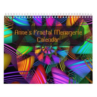 Anne's Fractal Menagerie Calendar #2