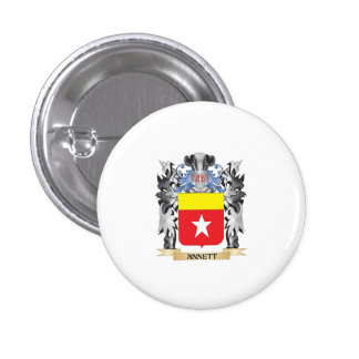 Annett Coat of Arms - Family Crest 1 Inch Round Button