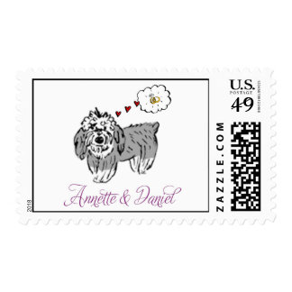 Annette and David Puppy Stamp