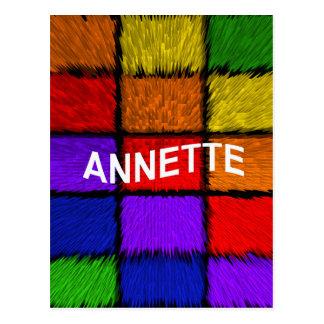 ANNETTE ( female names ) Postcard