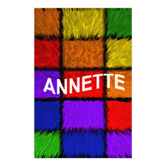 ANNETTE ( female names ) Stationery