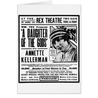Annette Kellerman 1918 silent movie advertisement Card