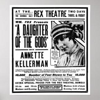 Annette Kellerman 1918 vintage movie ad poster