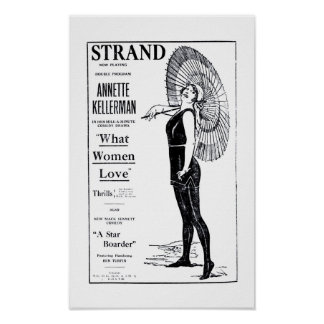 Annette Kellerman 1921 vintage movie ad poster