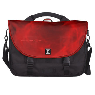 Annette's black and red commuter bag