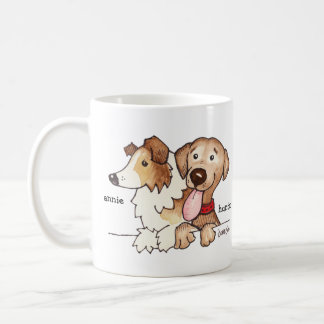 Annie and Hunter Classic White Coffee Mug