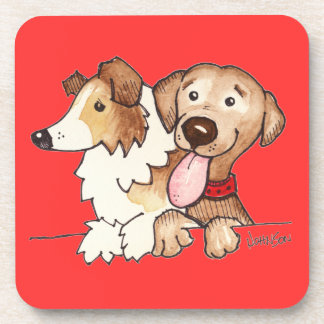 Annie and Hunter Drink Coaster