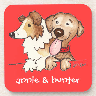 Annie and Hunter Drink Coasters