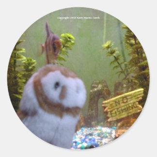 Annie & Angelfish Classic Round Sticker