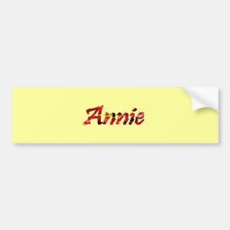 Annie bumper sticker