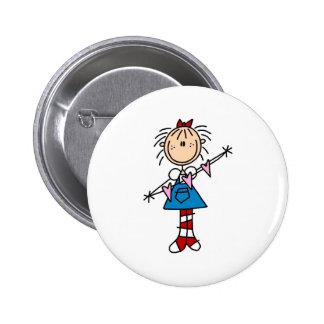 Annie con el botón de los corazones pin redondo de 2 pulgadas
