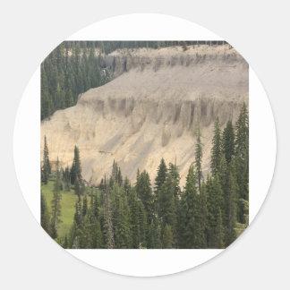 Annie Creek Meadow & Fumaroles Classic Round Sticker