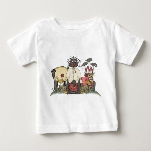 Annie Doll Sheep & Crows Baby T-Shirt