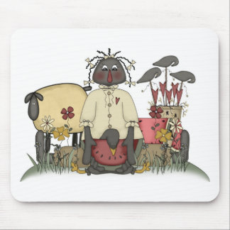Annie Doll Sheep & Crows Mouse Pad