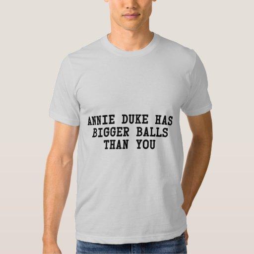 Annie Duke has more balls than you Poker holdem T-shirt