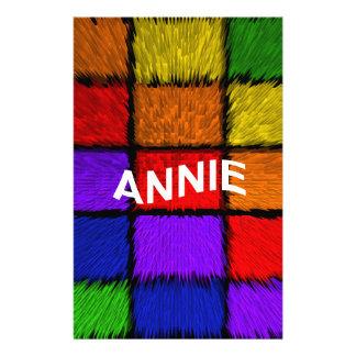 ANNIE ( female names ) Stationery