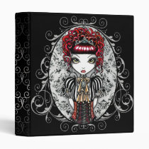 victorian, red, gothic, stripes, corset, couture, princess, crown, fantasy, fairy, faery, fae, faerie, fairies, art, myka, jelina, annie, characters, Binder with custom graphic design