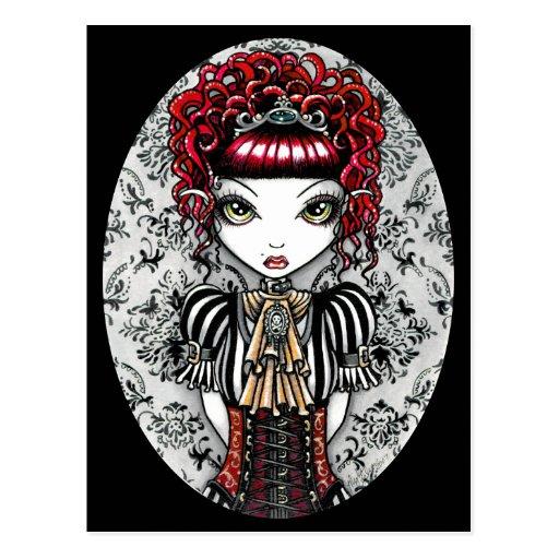 Annie Gothic Victorian Fae Postcard