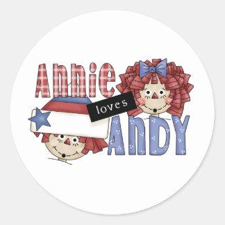 Annie Loves Andy Ragdoll Classic Round Sticker
