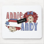 Annie Loves Andy Ragdoll Mouse Mat
