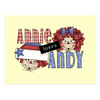 Annie Loves Andy Tshirts and Gifts Postcard