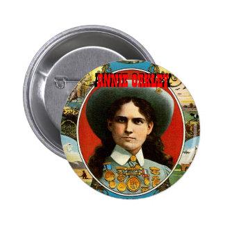 Annie Oakley - botón Pin Redondo De 2 Pulgadas