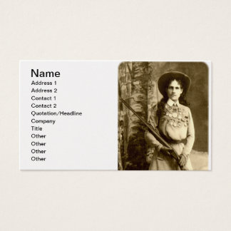 Annie Oakley Classic Business Card