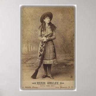 annie oakley lil sure shot cabinet photo poster