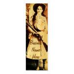 Annie Oakley Oil Grunge Bookmark Business Card
