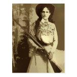 Annie Oakley Oil Grunge PostCard