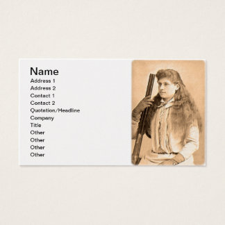 Annie Oakley Portrait Business Card