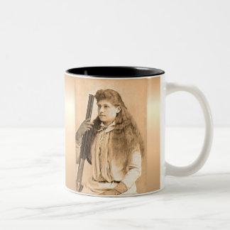 Annie Oakley Portrait Two-Tone Coffee Mug