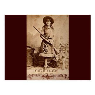 Annie Oakley Sepia Postcards