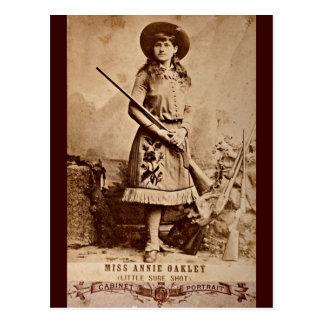 Annie Oakley Sepia Post Card