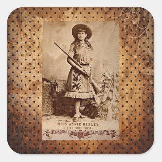 Annie Oakley Sepia Square Sticker