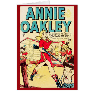 """Annie Oakley"" Vintage Comic Cover Card"