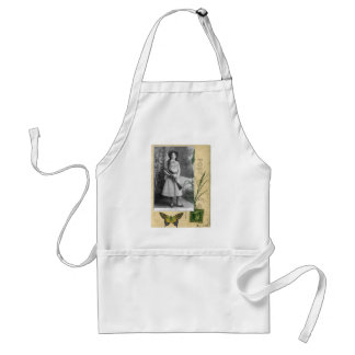 Annie Oakley Vintage Photo Butterfly Cowgirl Adult Apron