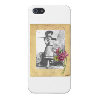 Annie Oakley Vintage Photo Flower Cowgirl Collage Case For iPhone SE/5/5s