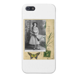 Annie Oakley Vintage Postcard Cowgirl Western Case For iPhone SE/5/5s