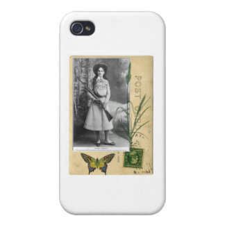 Annie Oakley Vintage Postcard Cowgirl Western iPhone 4/4S Cover