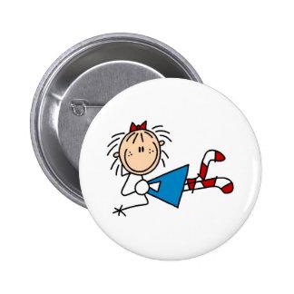 Annie que miente abajo botón pin redondo de 2 pulgadas