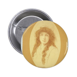 Annie Russell, 'Mice and Men' Retro Theater Buttons