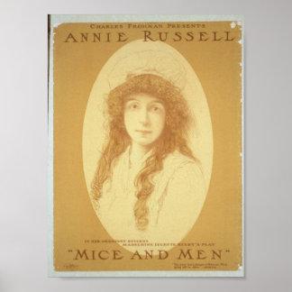 Annie Russell teatro retro de los ratones y de l Impresiones