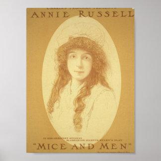 Annie Russell teatro retro de los ratones y de l Posters