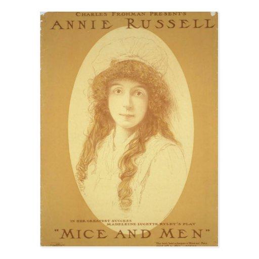"""Annie Russell, teatro retro de los """"ratones y de l Tarjeta Postal"""